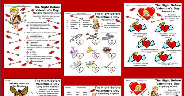 valentine's day reading comprehension worksheets 3rd grade