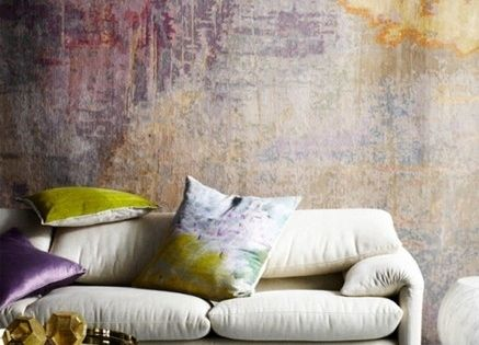 Updated faux plaster walls from 5 Resurrected Old-World Interior Design Trends
