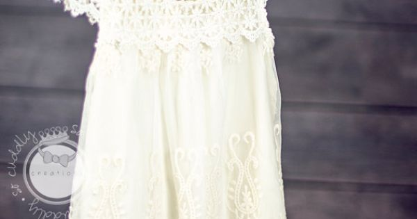 New Spring Collection Angellina Natural Cream Cotton Lace Girl Vintage Style Dress