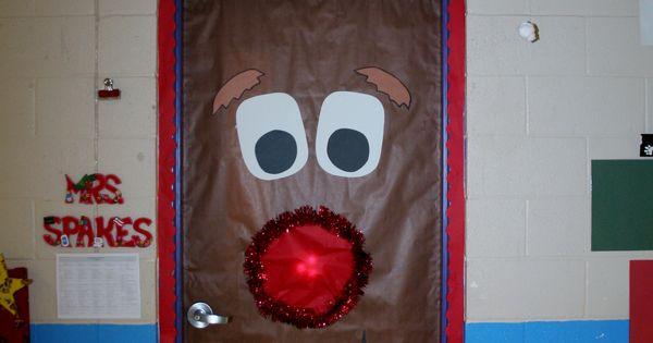 Fouke Kindergarten Rudolph Classroom Door School