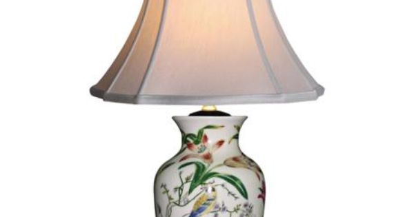 Tulip vase porcelain table lamp style g6964 - Porcelain table lamps for living room ...