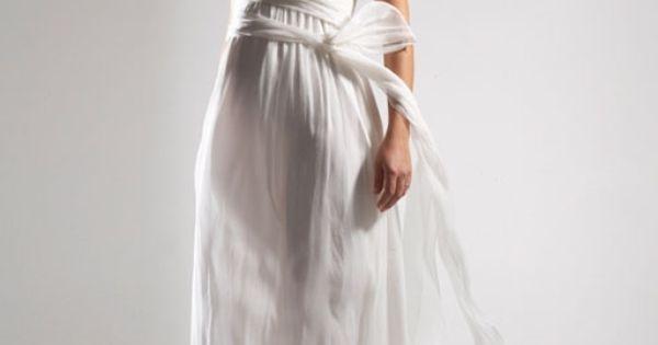 Robe pour femme enceinte mousseline avec bretelles robe de mariée ...