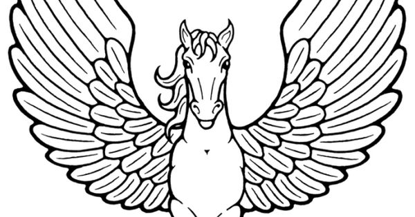 Unicorn With Wings Flying Coloring Pages | Coloring Page ...