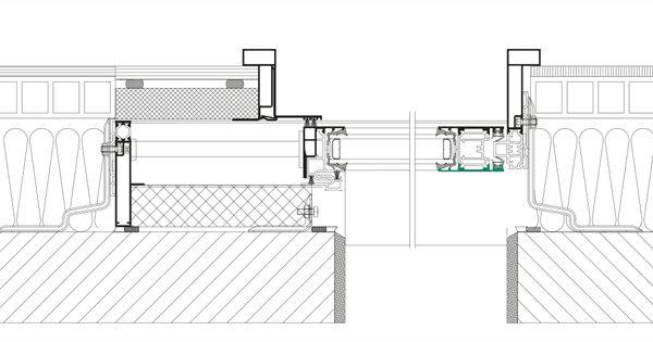 Baie coulissante galandage k line fenetre en aluminium et galandage facad - Dimension porte coulissante interieur ...