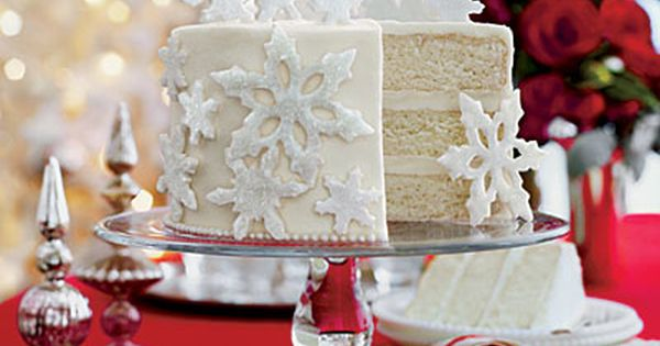 Holiday cake! Mrs. Billett's White Cake. Southern living cake contest winner.