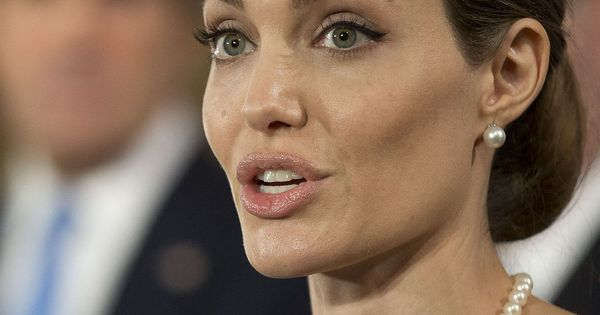 Actress Angelina Jolie Shares Story Of Her Double ... Angelina Jolie