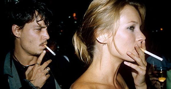Johnny Depp and Kate Moss 90s