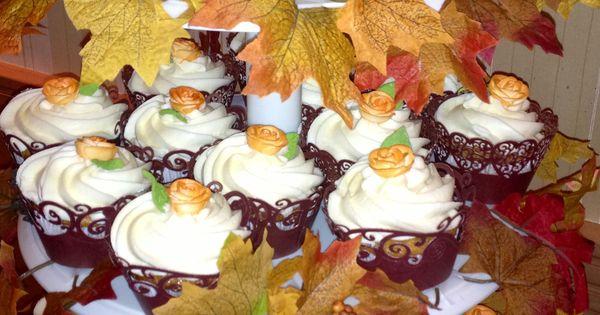 Fall theme cupcakes for a wedding! | Cupcakes