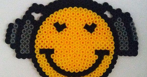 Sandylandya smiley hama b gelperlen by - Smiley perle a repasser ...