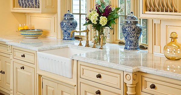 French Country Blue And Yellow Kitchens Pinterest