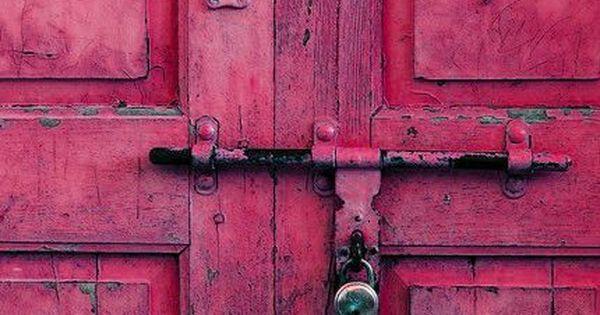 fabulous pink door. The door on a house is like the tie