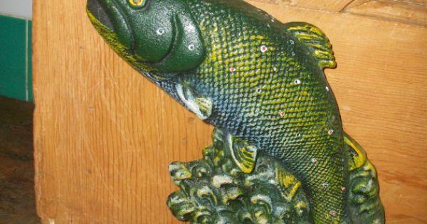 Cast iron door stop fish antique door stops for Fish door stop