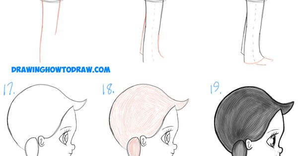 how to draw a chibi side profile