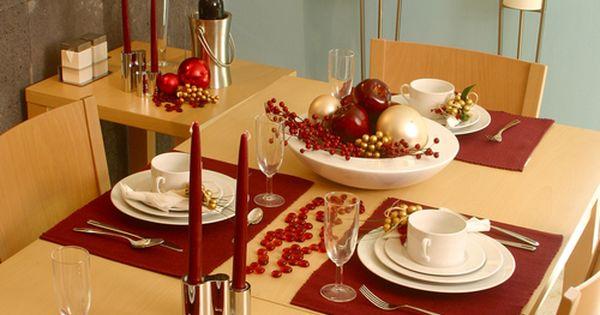 Mesa de navidad minimalista decoraci n de mesas - Decoracion para mesa navidena ...