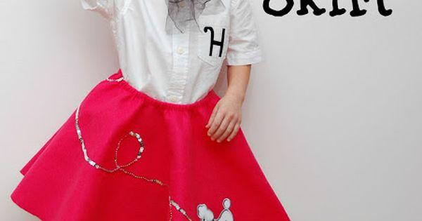 Poodle Skirt Tutorial. For larger kids (and adults) use 2 yards of