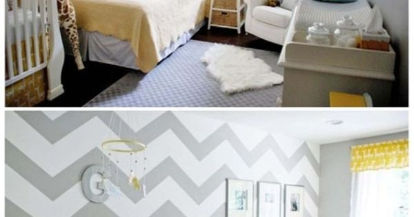 baby room that serves for a guest room as well... great idea