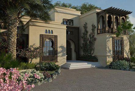 Arabian Style Windows Door House Exterior Exterior House Colors Modern House Exterior