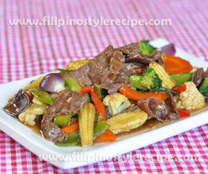 Beef Chopsuey Chopsuey Recipe Recipes With Oyster Sauce Beef