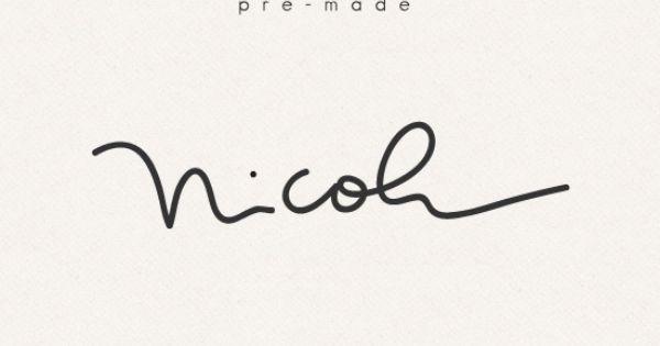 Pre made nicole graphic simple sally premade