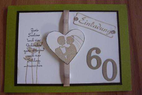 Hochzeit sprüche diamantene einladungskarten Diamantene Hochzeit: