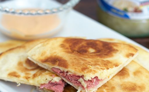 Reuben Quesadillas | Recipe | Quesadillas, Quesadilla Recipes and Look ...