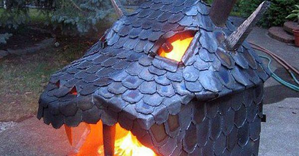 backyard dragon fire pit?!