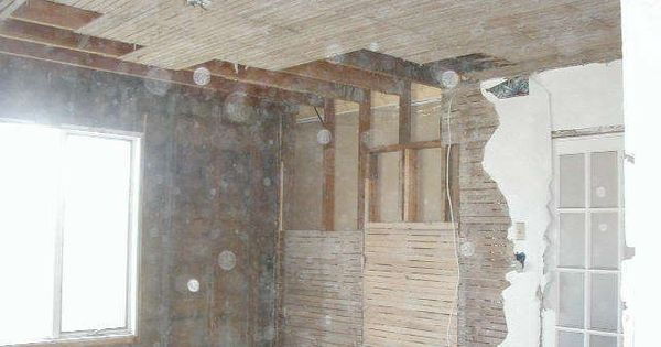 Removing Lathe And Plaster Insulating Drywalling Old House