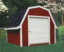 Midwest Manufacturing E Z Build 12 X 16 Gambrel Storage Building With Roll Up Door Shed Shed Plans Building A Shed
