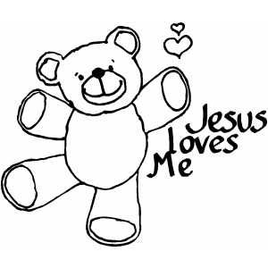 Jesus Loves Me Coloring Page Sunday School Coloring Pages Jesus Coloring Pages Bible Coloring Pages