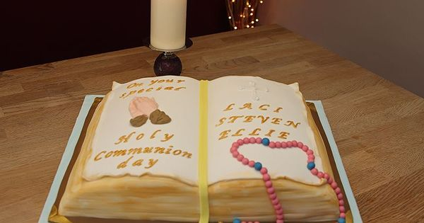 Open Bible Cake Topper