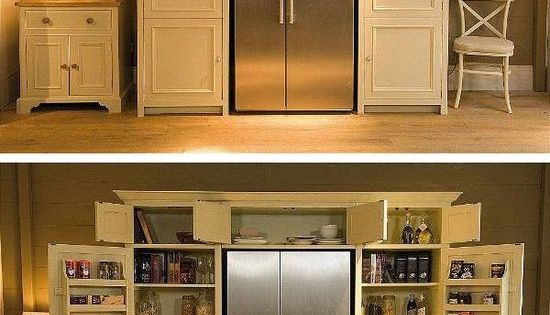 DIY Home Decor: Fridge Surrounded by Pantry HG - use for cook