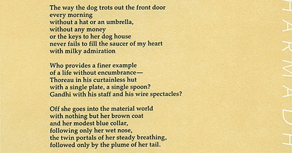 Dharma By Billy Collins Inspiration Pinterest Poem