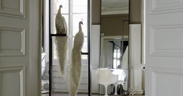 J 39 aime le miroir pos par terre david mallett salon de for Salon par terre
