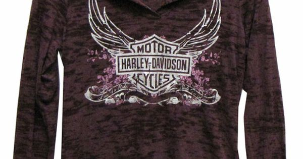 harley davidson clothing for women | Harley-Davidson® Womens Shirt – Hoodie Purple