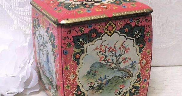Details about  /Retro Floral Tin Can Tea Storage Box Candy Gift Case