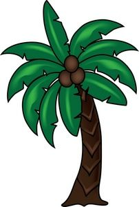 Trees coconut. Palm tree clipart image