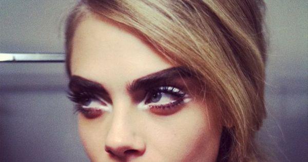 Cara Delevigne; perfect eye makeup
