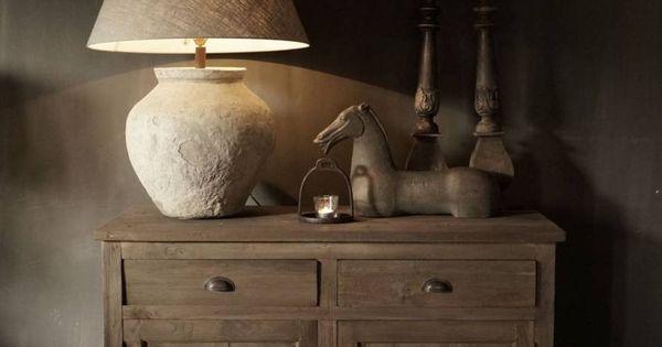 Stoer rustiek dressoir landelijk wonen stijl pinterest rustiek dressoir en landelijk wonen - Deco eetkamer rustiek ...
