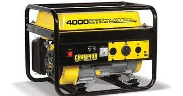 Champion Power Equipment Model 46596 4 000 Watt Portable Gas Generator Not