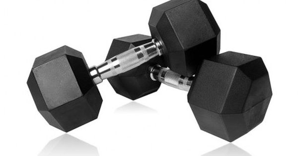 2 x 3kg A Pair Hex Dumbbells Rubber Encased Weights Sets Hexagonal Dumbbell