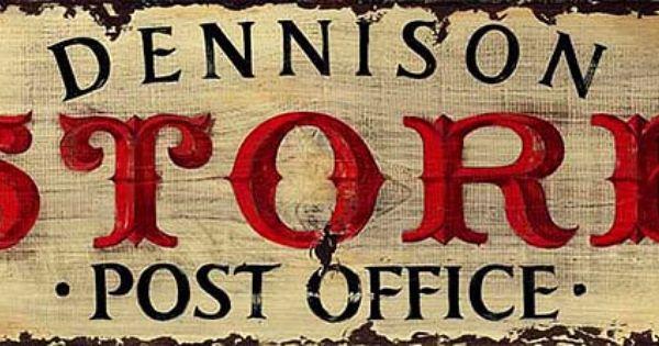 Vintage Post Office Sign Rustic Primitive Wood Signs Custom Wood Signs Office Signs Primitive Wood Signs