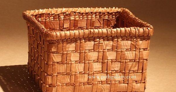 Indian Basket Weaving Kits : Casey jessica basket cedar northwest coast native