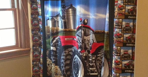 Case Ih Home Decor: Case IH Magnum Tractor Shower Curtain For The Bathroom