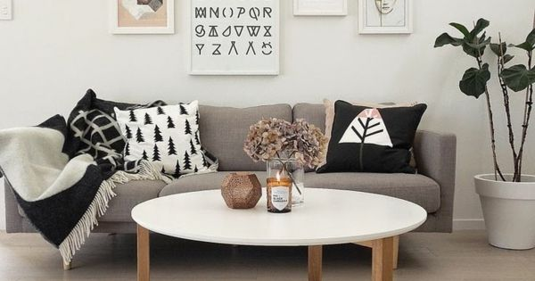 Innendesign ideen skandinavisch einrichten wohnzimmertisch rund interieur pinterest reh - Bilderwand skandinavisch ...