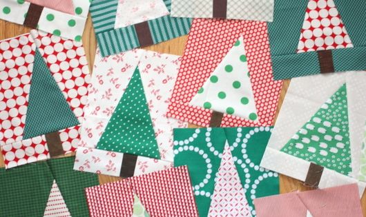 Modern Christmas Tree Quilt Block Tutorial Christmas