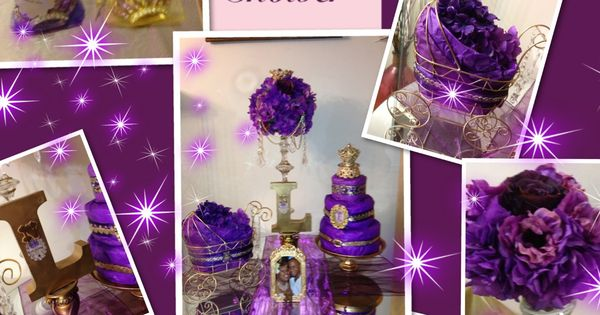 purple gold royal themed baby shower baby shower ideas pinterest