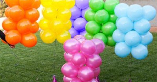 Rainbow Balloon Arch How To Party City Rainbow Balloon Arch Rainbow Balloons Balloon Arch