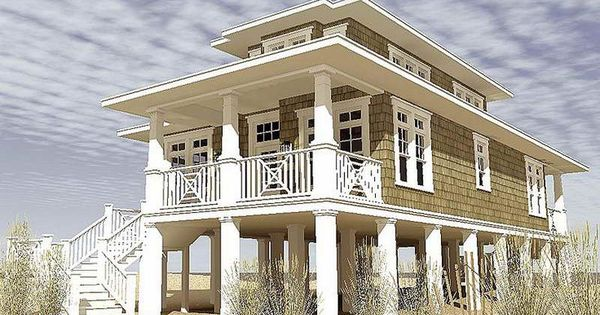 Modular beach homes on pilings gallery of narrow lot for Narrow beach house plans on pilings