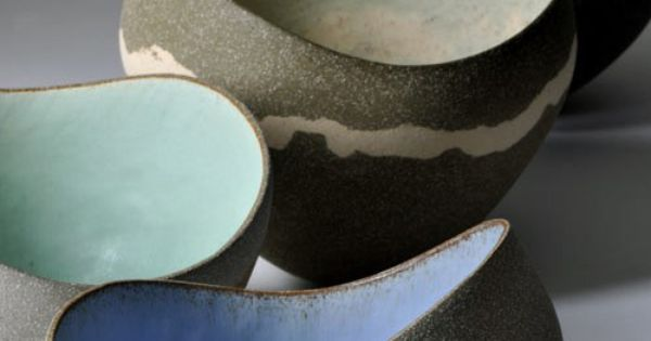 Kerry Hastings Ceramics - hand coiled one of a kind bowls. These