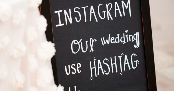 Instagram Hashtag Wedding Sign -- See more on SMP here: www.StyleMePretty... Photography:
